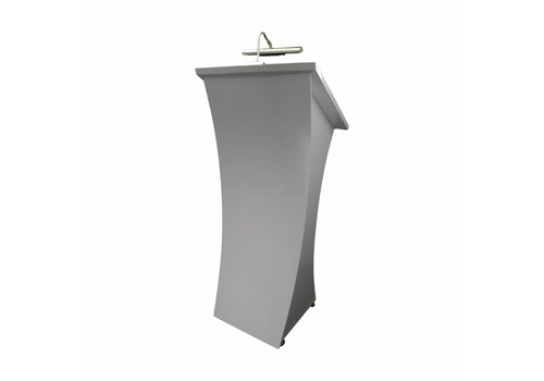 Bravour Neptune - Lectern with curved frontpanel, white