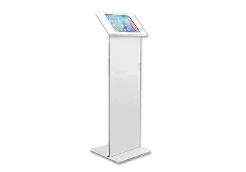 Bravour Vloerstandaard wit met display paneel voor tablets tussen 9 en 11 inch,  Securo