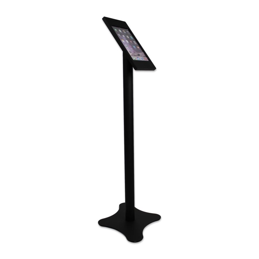"Universal tablet floor stand Nuvola-Securo for tablets between 12-13"", black"