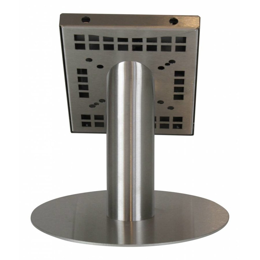 Tablet desk stand Securo 7-8 inch stainless steel, coated and solid steel, lock option, cable integration