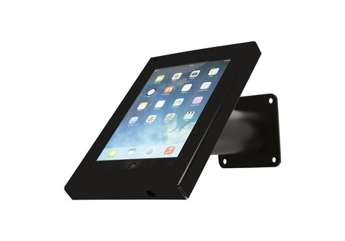 Bravour Tablet wand- en tafelkiosk, zwart, voor 7 tot 8 inch tablets, Securo, afsluitbaar