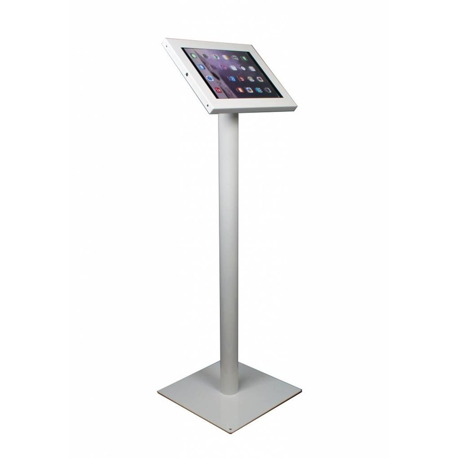 Tablet floor stand Securo 12-13 inch white. Rotatable and lockable (optional)