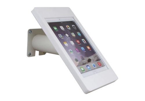Bravour iPad houder wit voor iPad Pro 9.7/ iPad Air; Fino, houder voor wand-, tafel montage van gecoat staal met acrylaat behuizing inclusief slot