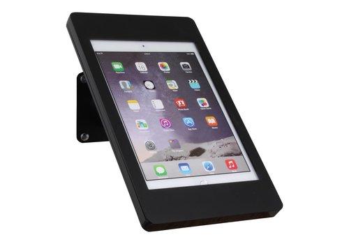 Bravour iPad houder zwart voor iPad Pro 12.9; Fino, houder voor wand-, tafel montage van gecoat staal met acrylaat behuizing inclusief slot