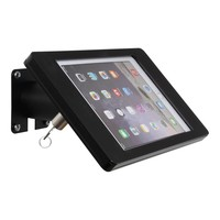iPad mini wall or desk mount Fino black, with luxury acrylic tablet casing dedicated to the iPad mini.