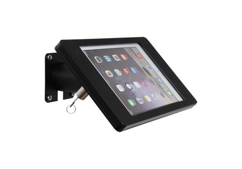 Bravour Soporte iPad mesa/pared para iPad mini, negro, casete en acrilico, tubo acero, Fino