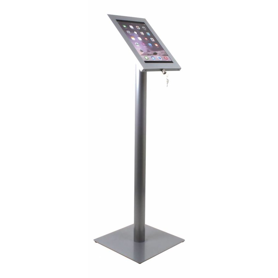 Tablet floor stand Securo 12-13 inch grey,rotatable and lockable (optional)