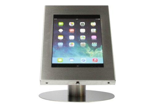Bravour Tablethouder voor tablets 12-13 inch, industrieel ongecoat staal, staand op tafel