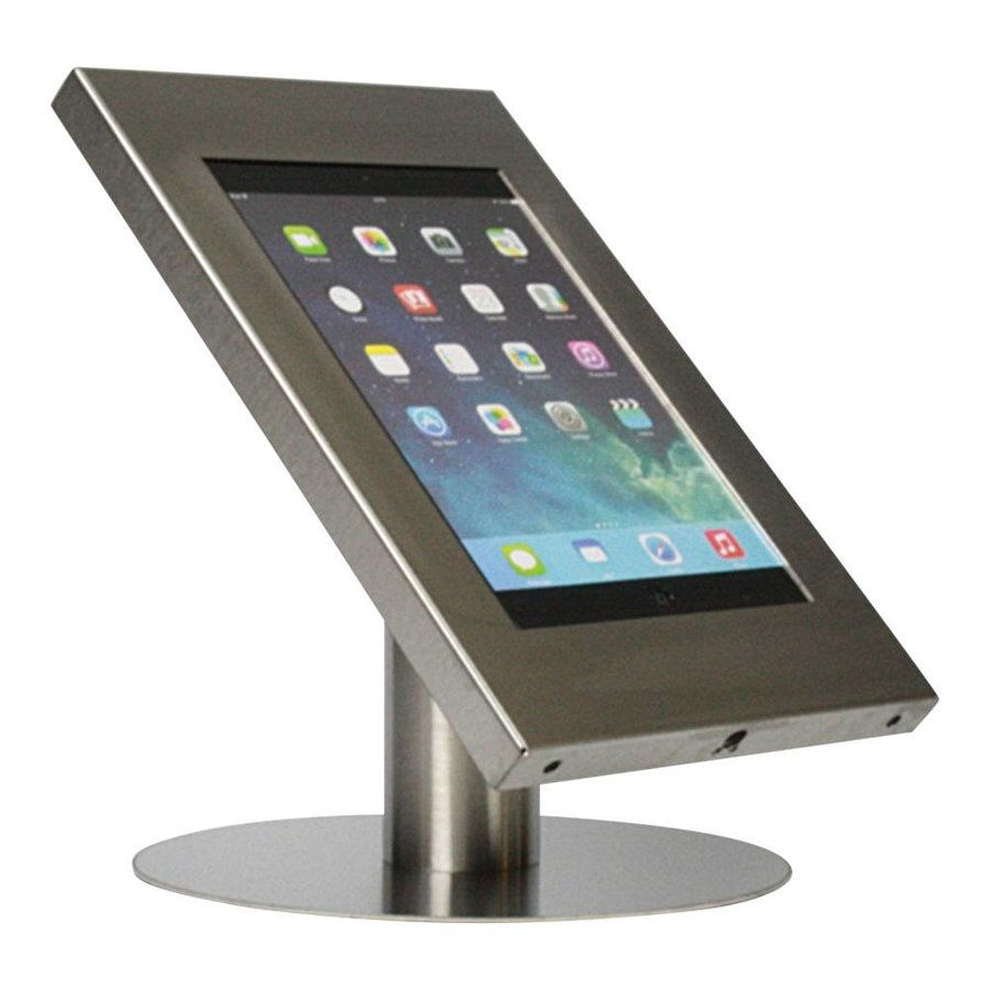 Tablet desk stand Securo 12-13 inch stainless steel, rotatable and lockable, cable integration possible, great stability
