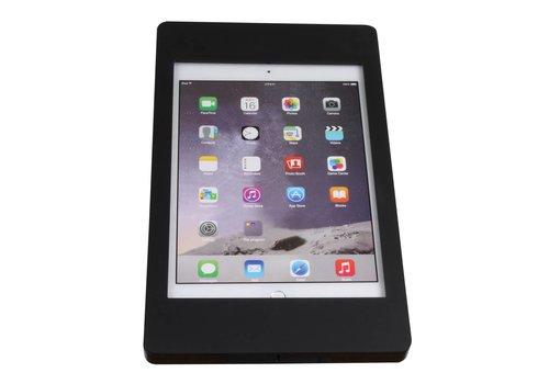 Bravour iPad houder zwart voor iPad Pro 9.7/ iPad Air; Fino, houder voor wand-, tafel montage van gecoat staal met acrylaat behuizing inclusief slot