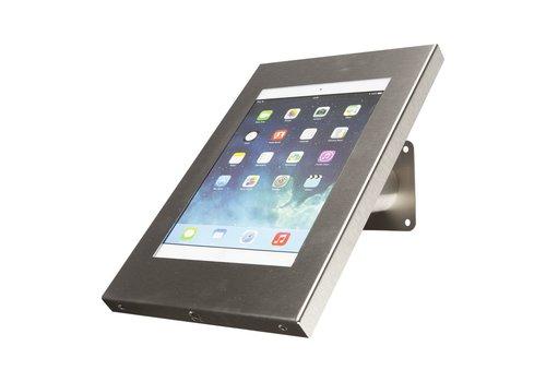 Bravour Wand- en tafelstandaard, RVS, voor 9 tot 11 inch tablets, Securo, afsluitbaar