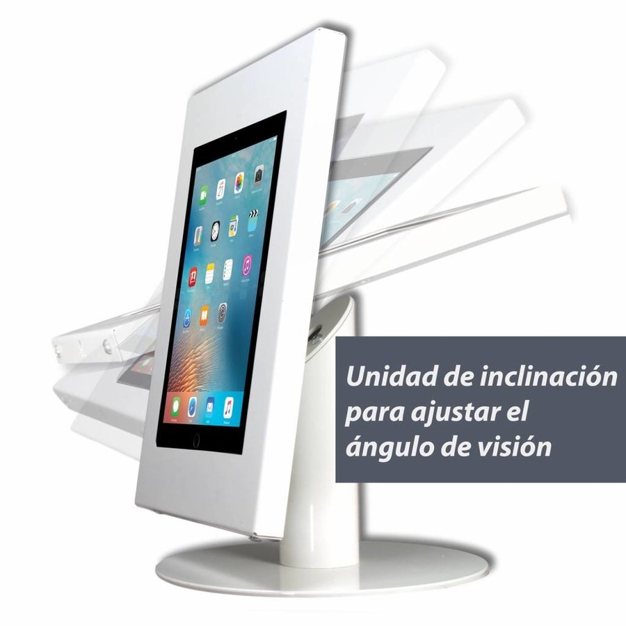 Tilting unit for Securo, Fino, Meglio, Kiosk en Lusso tabletenclosures on floor stand, desk stand, wall/table mount.