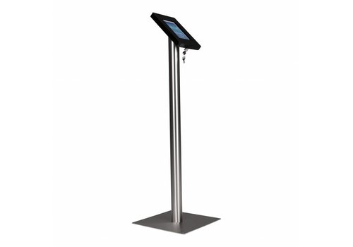 Bravour Tablet floor stand Meglio black cassette 7-8 inch with stainless steel base
