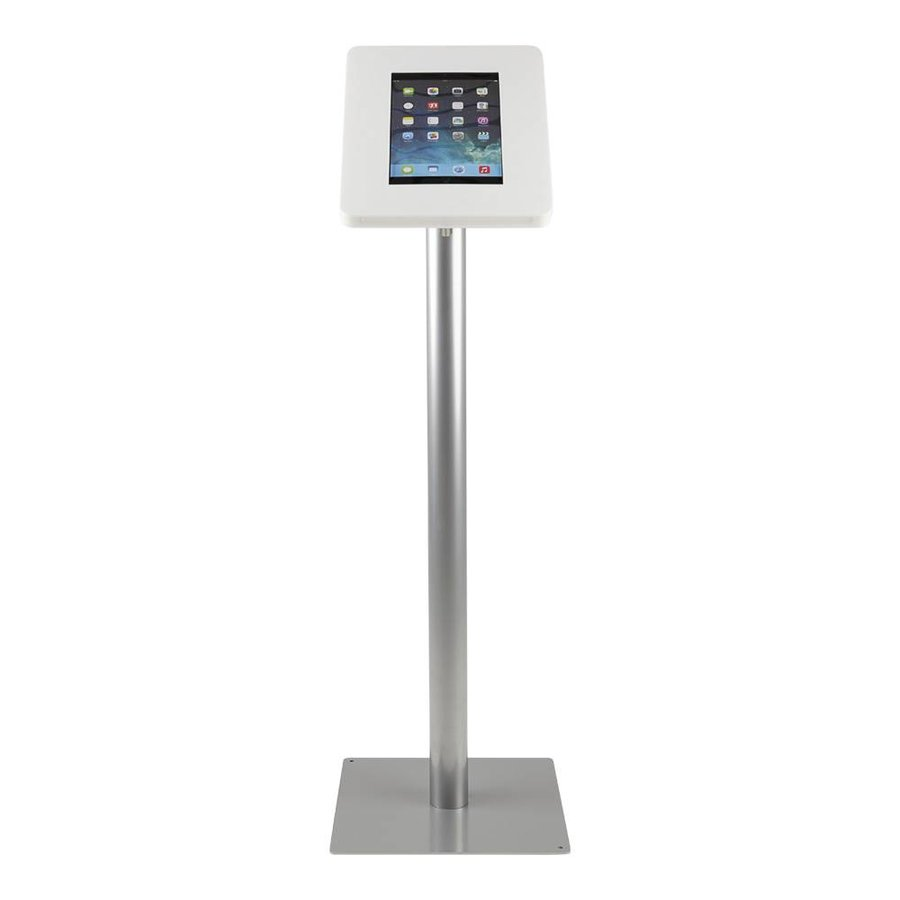 Tablet floor stand Meglio white cassette 9-11 inch with grey base
