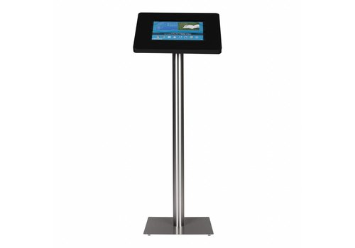 Bravour Tablet floor stand Meglio black cassette 12-13 inch with stainless steel base