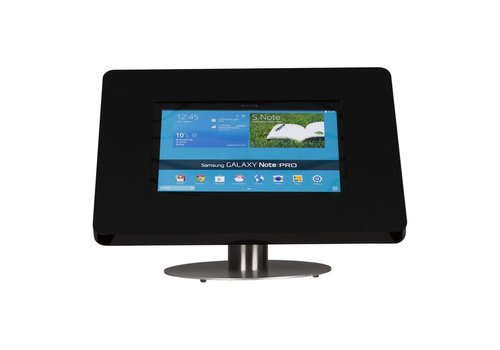 Bravour Desk stand for tablets 12-13 inch black with stainless steel base Meglio