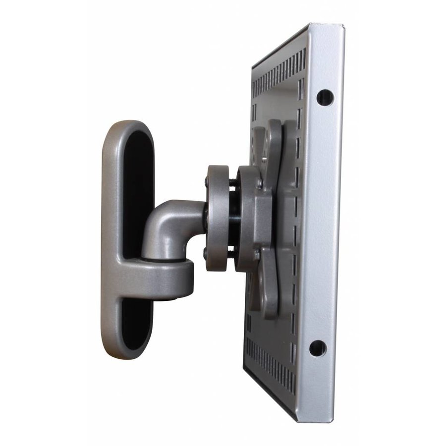 7-8 inch Tablet wall mount Flessibile at 125 mm from the wall with securo enclosure.