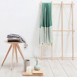 Hammam34 Hamam towel Shanken not stirred - green