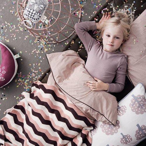 Ferm Living Deken Zigzag Roze (80 x 100 cm.)