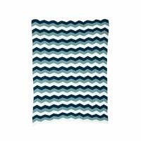 Blanket Zigzag Blue (80 x 100 cm.)
