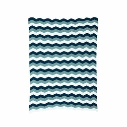 Ferm Living Blanket Zigzag Blue (80 x 100 cm.)