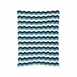 Ferm Living Deken Zigzag blauw (80 x 100 cm.)