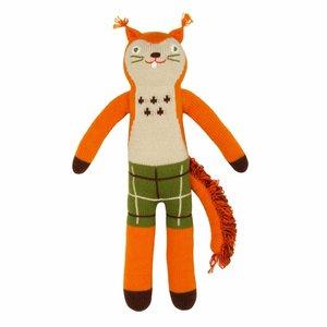 BlaBla Kids Gebreide knuffel eekhoorn Mc. Nutty