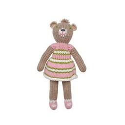 BlaBla Kids Gebreide rammelaar knuffel meisjes beer