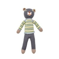 Knitted rattle doll bear boy