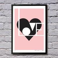 Giclée print Love roze