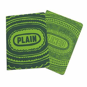 Sukie Notebook * lined plain green