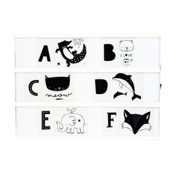 a little lovely company Woondecoratie Light Box letterset KIDS ABC Black & white