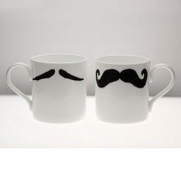 Peter Ibruegger Mug * Moustache Maurice - Poirot