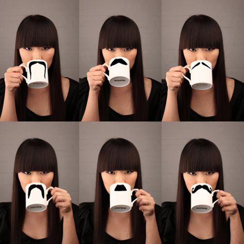 Peter Ibruegger * Mug * Moustache Mustafa - Chaplin