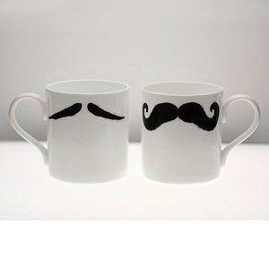 Peter Ibruegger Big Mug * Moustache Maurice - Poirot