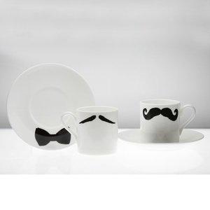 Peter Ibruegger Espresso kop en schotel Snorren Maurice - Poirot