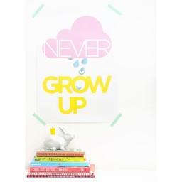 Zilverblauw Poster Never grow up
