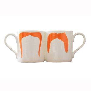 Peter Ibruegger Mug Moustache Fu - Magnum - Orange