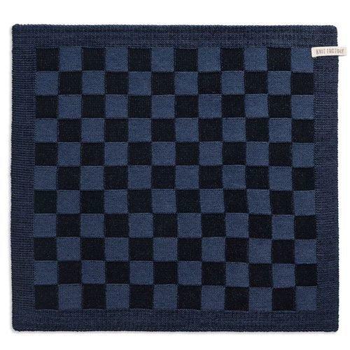 Knit Factory Gebreide Keukendoeken Blok zwart &