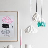 Moth origami lamp
