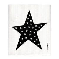 Dishcloth Black Star