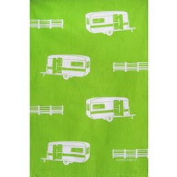 Snowden Flood Tea towel Caravans
