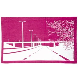 Snowden Flood Tea towel Motorway