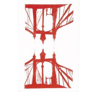 Snowden Flood Tea towel Albert Bridge