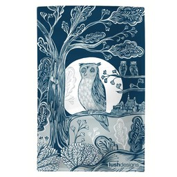 lush designs Tea towel Owl