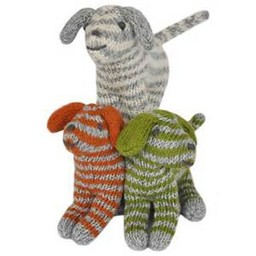 BlaBla Kids Knitted rattle doll dog
