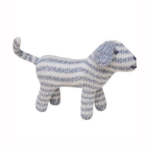 BlaBla Kids Knitted rattle doll dog