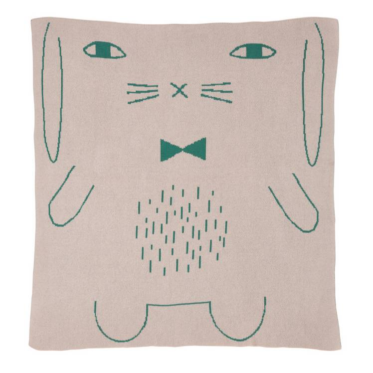 Donna Wilson Rabbit mini baby blanket
