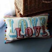 DIY Embroider Pillow Love