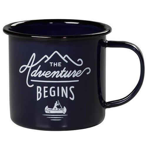 Gentlemen's hardware Enamel Mug The adventure begins